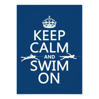 Behalten Sie Ruhe und schwimmen Sie auf (in Karte