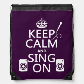 Behalten Sie Ruhe und singen Sie auf (Karaoke) Turnbeutel
