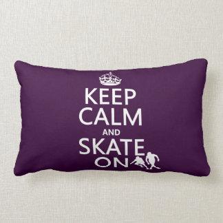 Behalten Sie Ruhe und Skate auf (Rollerskaters) Lendenkissen