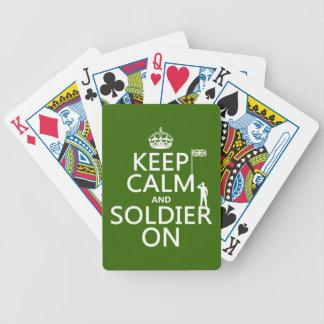 Behalten Sie Ruhe und Soldaten auf (BRITISCHE Bicycle Spielkarten