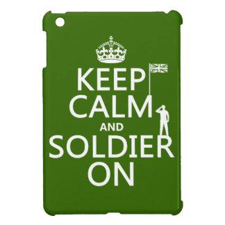 Behalten Sie Ruhe und Soldaten auf (BRITISCHE iPad Mini Hülle