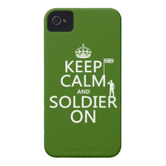 Behalten Sie Ruhe und Soldaten auf (BRITISCHE iPhone 4 Hülle