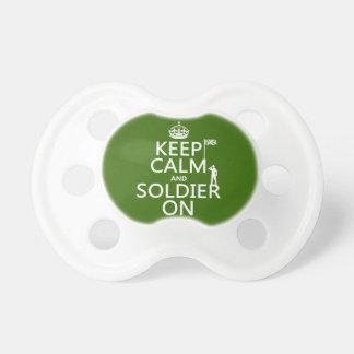 Behalten Sie Ruhe und Soldaten auf (BRITISCHE Schnuller