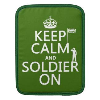 Behalten Sie Ruhe und Soldaten auf (BRITISCHE Sleeve Für iPads