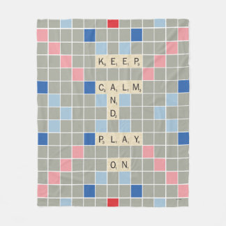 Behalten Sie Ruhe und Spiel an Fleecedecke