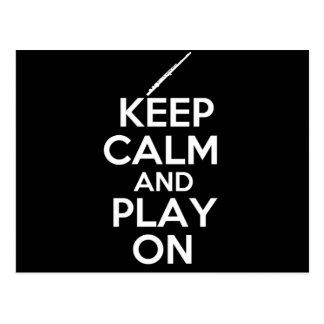 Behalten Sie Ruhe und Spiel an! (Flöte) Postkarte