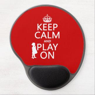 Behalten Sie Ruhe und Spiel an Gel Mousepad