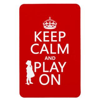 Behalten Sie Ruhe und Spiel an Magnet