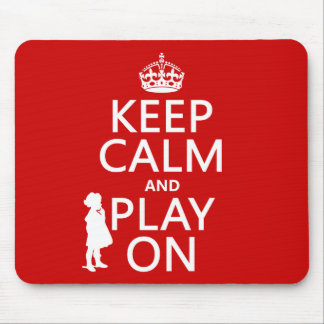 Behalten Sie Ruhe und Spiel an Mauspads