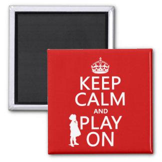 Behalten Sie Ruhe und Spiel an Quadratischer Magnet