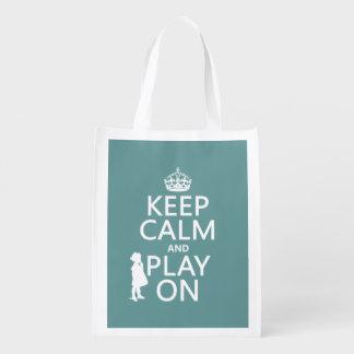 Behalten Sie Ruhe und Spiel an Wiederverwendbare Einkaufstasche