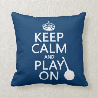Behalten Sie Ruhe und Spiel auf (Banjo) Kissen