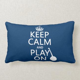 Behalten Sie Ruhe und Spiel auf (Banjo) Lendenkissen