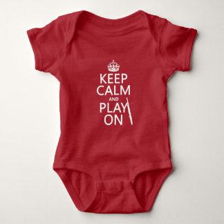 Behalten Sie Ruhe und Spiel auf (Bassoon) Baby Strampler