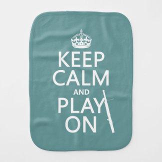 Behalten Sie Ruhe und Spiel auf (Bassoon) Spucktuch