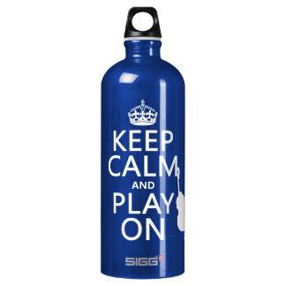 Behalten Sie Ruhe und Spiel auf (Cello) Wasserflasche