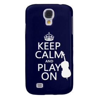 Behalten Sie Ruhe und Spiel auf (doppelter Baß) Galaxy S4 Hülle