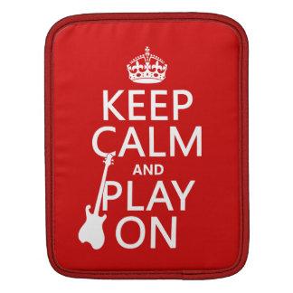 Behalten Sie Ruhe und Spiel auf (Gitarre) iPad Sleeve
