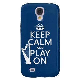 Behalten Sie Ruhe und Spiel auf (Harfe) Galaxy S4 Hülle