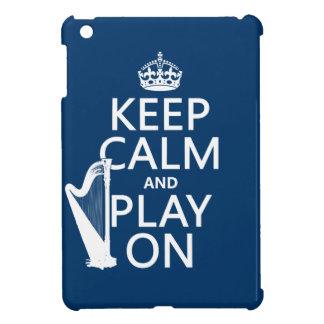 Behalten Sie Ruhe und Spiel auf (Harfe) iPad Mini Hülle