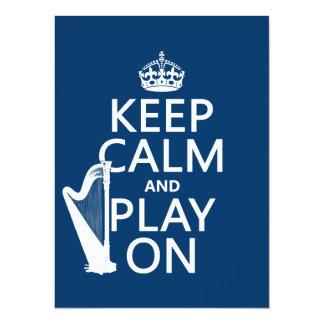 Behalten Sie Ruhe und Spiel auf (Harfe) Karte