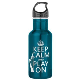 Behalten Sie Ruhe und Spiel auf (Harfe) Trinkflasche