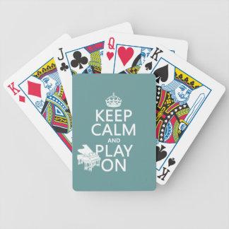 Behalten Sie Ruhe und Spiel auf (Klavier) Bicycle Spielkarten