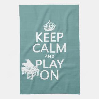 Behalten Sie Ruhe und Spiel auf (Klavier) Handtuch