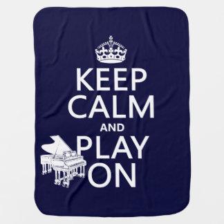 Behalten Sie Ruhe und Spiel auf (Klavier) Kinderwagendecke