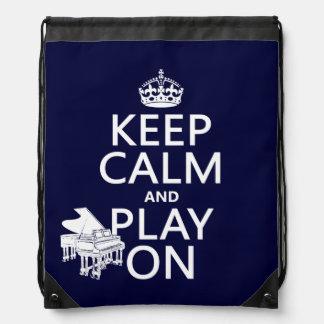 Behalten Sie Ruhe und Spiel auf (Klavier) Sportbeutel