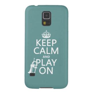 Behalten Sie Ruhe und Spiel auf (Kornett) Samsung Galaxy S5 Cover