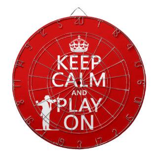 Behalten Sie Ruhe und Spiel auf (Leiter) Dartscheibe