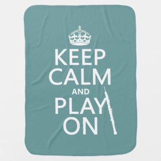 Behalten Sie Ruhe und Spiel auf (oboe) (irgendeine Kinderwagendecke