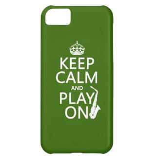 Behalten Sie Ruhe und Spiel auf (Saxophone) iPhone 5C Hülle