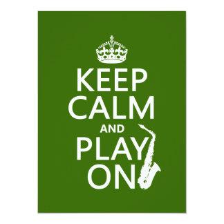 Behalten Sie Ruhe und Spiel auf (Saxophone) Karte