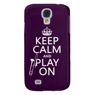 Behalten Sie Ruhe und Spiel auf (Trombone) Galaxy S4 Hülle