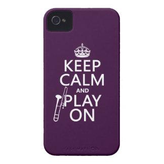 Behalten Sie Ruhe und Spiel auf (Trombone) iPhone 4 Cover