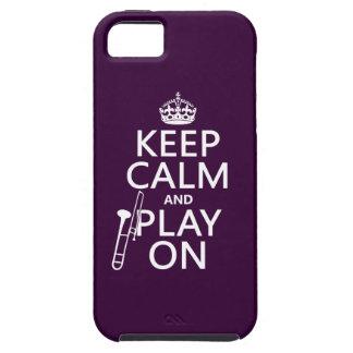 Behalten Sie Ruhe und Spiel auf (Trombone) iPhone 5 Schutzhülle