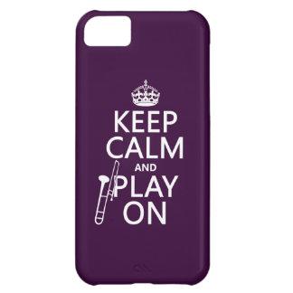 Behalten Sie Ruhe und Spiel auf (Trombone) iPhone 5C Hülle