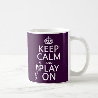 Behalten Sie Ruhe und Spiel auf (Trombone) Kaffeetasse