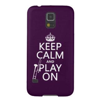 Behalten Sie Ruhe und Spiel auf (Trombone) Samsung S5 Hüllen