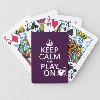 Behalten Sie Ruhe und Spiel auf (Trommeln) Bicycle Spielkarten