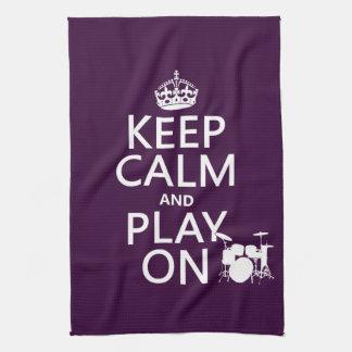 Behalten Sie Ruhe und Spiel auf (Trommeln) Handtuch