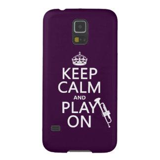 Behalten Sie Ruhe und Spiel auf (Trompete) (alle Galaxy S5 Cover