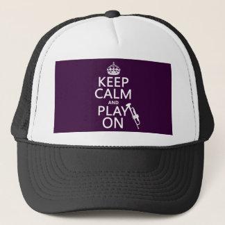 Behalten Sie Ruhe und Spiel auf (Trompete) (alle Truckerkappe