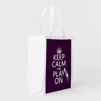 Behalten Sie Ruhe und Spiel auf (Trompete) (alle Wiederverwendbare Einkaufstasche