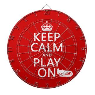 Behalten Sie Ruhe und Spiel auf (Tuba) (irgendeine Dartscheibe