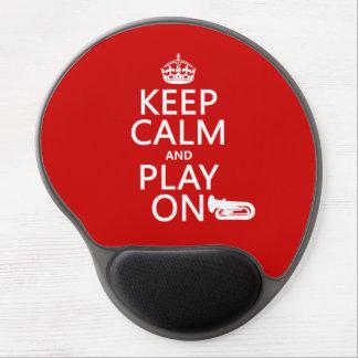 Behalten Sie Ruhe und Spiel auf (Tuba) (irgendeine Gel Mousepad
