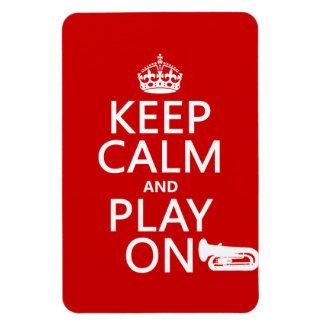 Behalten Sie Ruhe und Spiel auf (Tuba) (irgendeine Magnet