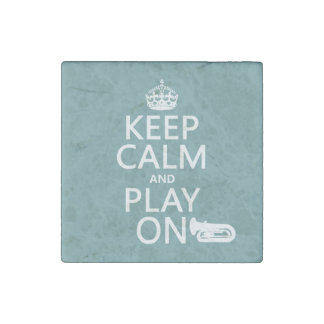 Behalten Sie Ruhe und Spiel auf (Tuba) (irgendeine Stein-Magnet